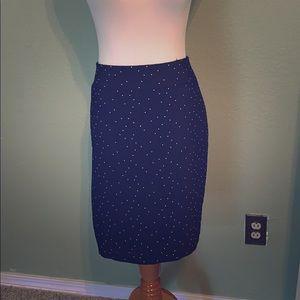 Blue with white dot skirt